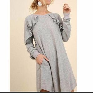 Dresses - Long sleeves ruffle dress